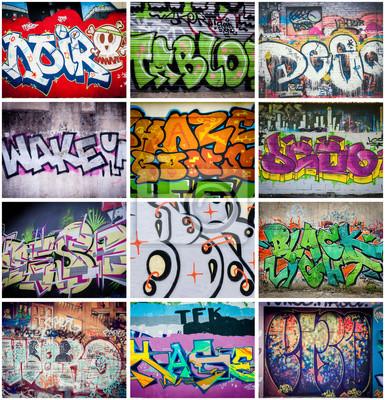 Canvastavlor graffiti couleurs