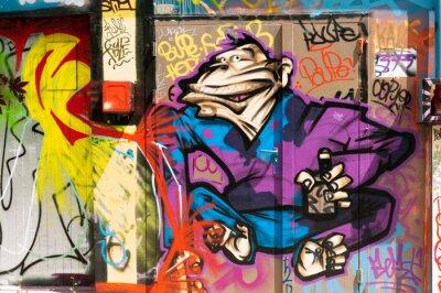 Canvastavlor graffiti personnage