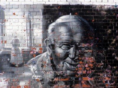 Canvastavlor graffiti religion