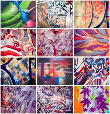 Canvastavlor Graffitis colores