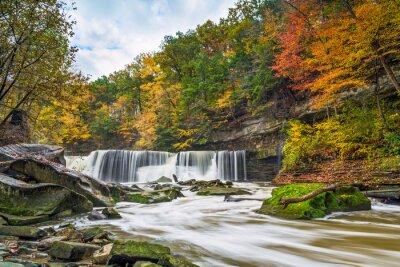 Canvastavlor Great Falls med stora färg