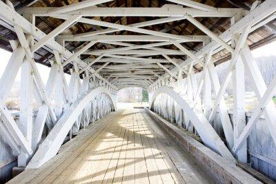Canvastavlor Groveton Covered Bridge (1852), New Hampshire, USA