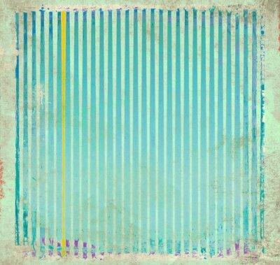 Canvastavlor Grunge blå randig bakgrund