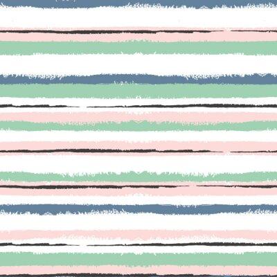 Canvastavlor Grunge randig seamless, vintage bakgrund för förpackning, tapeter, textil