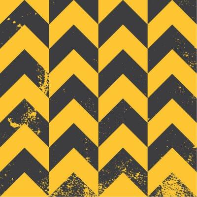 Canvastavlor gul sparremönster med bekymrad struktur