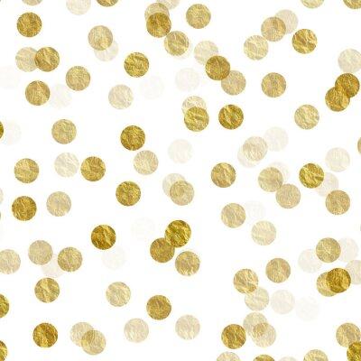Canvastavlor Guld Prickar Faux Folie metallisk bakgrund Mönster Textur