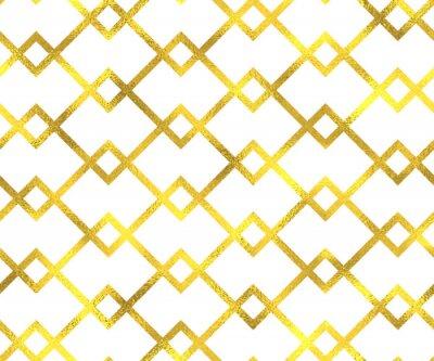 Canvastavlor Guld vintage folie geometrisk seamless bakgrund