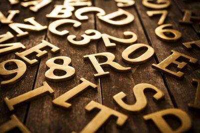 Canvastavlor gyllene bokstäver