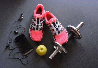 Canvastavlor gymnastikskor, kläder för fitness