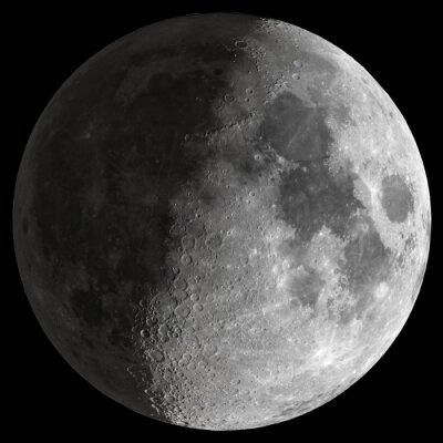 Canvastavlor Half Moon med skarpa detaljer.