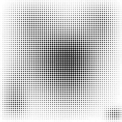 Canvastavlor Halvton prickar bakgrund svart och vitt elegant