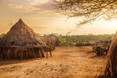Canvastavlor Hamer by nära Turmi, Etiopien
