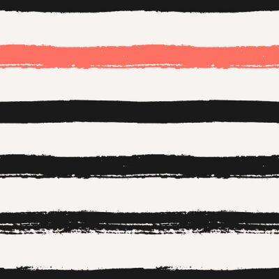 Canvastavlor Hand Drawn Stripes sömlösa mönster
