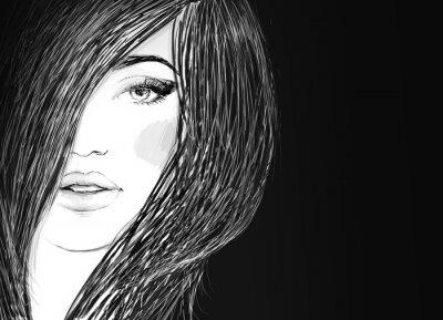Canvastavlor Handmålade modeillustration