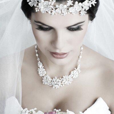 Canvastavlor Härlig brud. Bröllopsklänning. bröllop dekoration