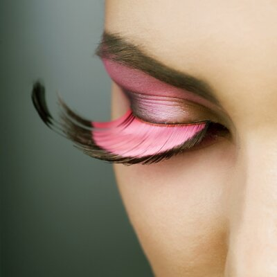 Canvastavlor Härlig mode Holiday Makeup