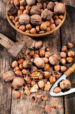 Canvastavlor Hasselnötter och valnötter