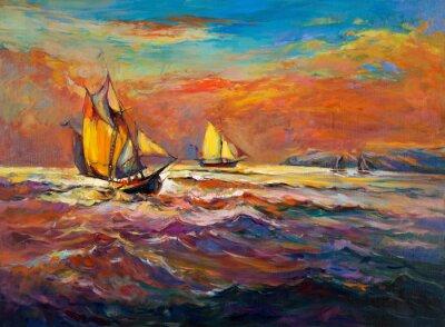 Canvastavlor Hav och fartyg