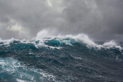 Canvastavlor hav våg under storm i Atlanten