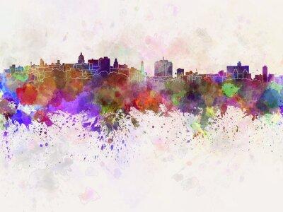 Canvastavlor Havana horisont i vattenfärg bakgrund