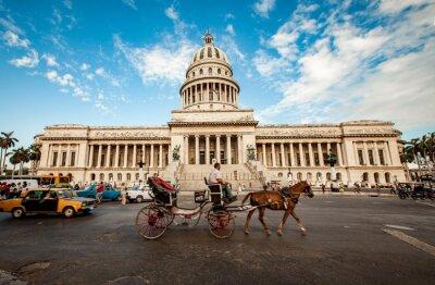 Canvastavlor Havanna, Kuba - 7 juni: Capital byggnad Kuba juni 7 2011 i