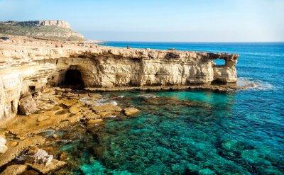 Canvastavlor Havet grottor panorama