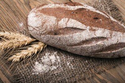 Canvastavlor Hembakat bröd, närbild