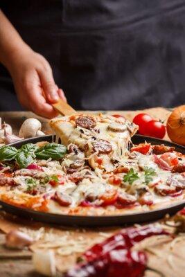 Canvastavlor hemlagad pizza