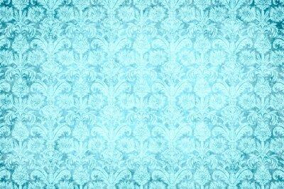 Canvastavlor Hintergrund - blauer prunk
