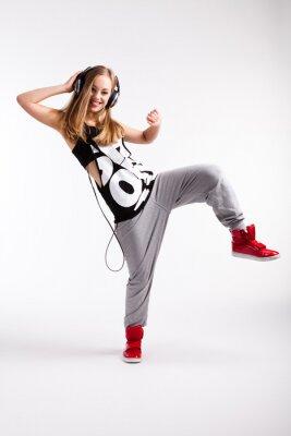 Canvastavlor Hip-hop dansare med hörlurar