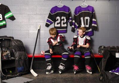 Canvastavlor Hockey Arena Boys i Rink Omklädningsrum