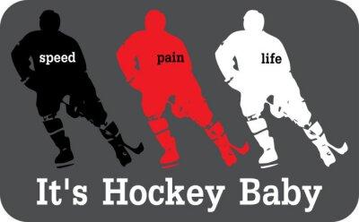Canvastavlor hockey etikett