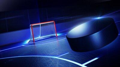Canvastavlor Hockey isbana och mål