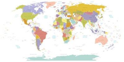 Canvastavlor Hög Detail World map.Layers används.