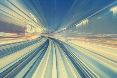 Canvastavlor Höghastighetsteknikkoncept via Tokyo monorail