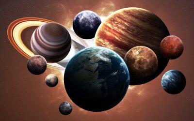 Canvastavlor Högupplösta bilder visar planeter i solsystemet. Denna bildelement som tillhandahålls av NASA