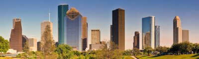 Canvastavlor Houston skyline
