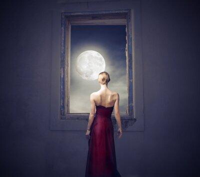 Canvastavlor I månskenet