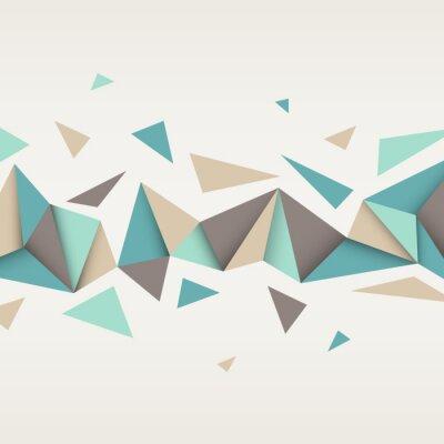 Canvastavlor Illustration av abstrakt struktur med trianglar.