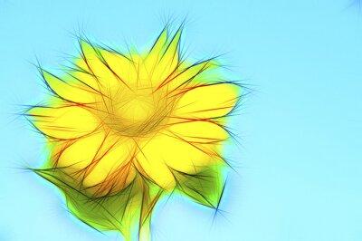 Canvastavlor Illustration gelbe Sonnen auf Blau