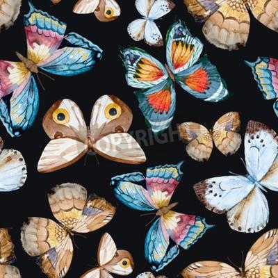 Canvastavlor illustrerade vattenfärg fjärilar