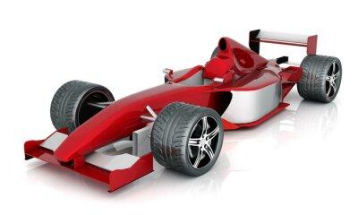 Canvastavlor image röda sportbil på en vit bakgrund