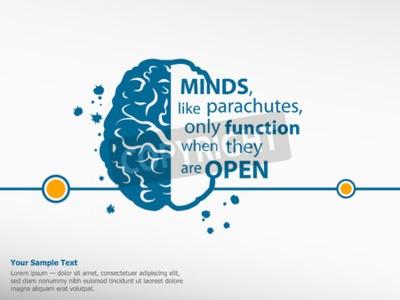 Canvastavlor Inspirera motivational citationstecken på hjärnan bakgrund
