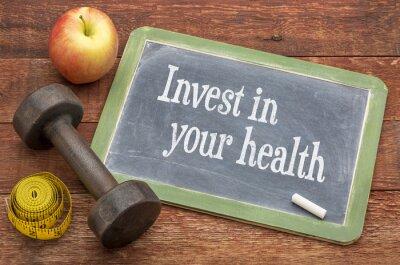 Canvastavlor Investera i din hälsa råd på tavlan