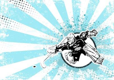 Canvastavlor ishockey retro affisch bakgrund