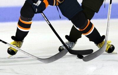 Canvastavlor Ishockeyspelare på rink