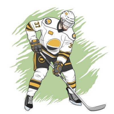 Canvastavlor ishockeyspelare vit