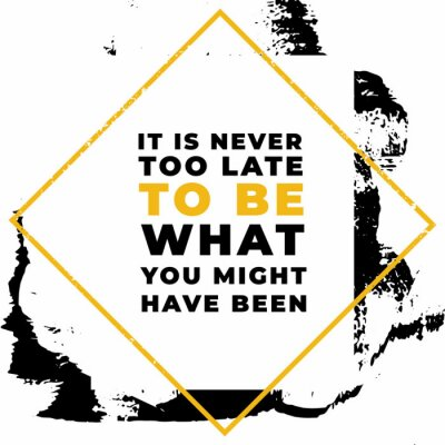 Canvastavlor It is never to be what you might have been. Motivational quotes.