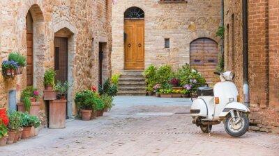 Canvastavlor Italienska gatorna i den toskanska småstad och en populär singel-tr