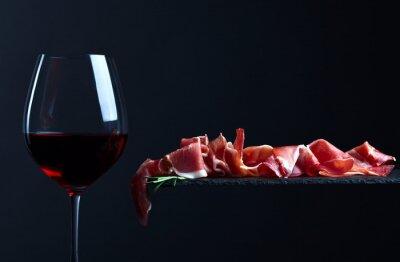 Canvastavlor jamon med rödvin